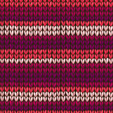 Vector stockinette stitch texture. Royalty Free Stock Image