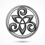 Vector stone celtic triskel symbol Stock Photography