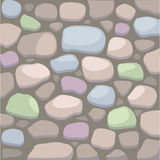 Vector Stone wall illustration. Illustration of cartoon stone wall vector file Stock Photo