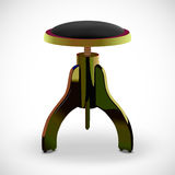 Vector stool for piano. illustration. Royalty Free Stock Images