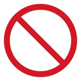 Vector stop icon, prohibited passage, stop sign icon, no entry sign on white background, red stop logo, prohibition sign. Vector artwork Vector Illustration
