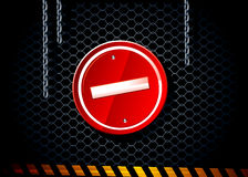 Vector stop sign. On dark background Stock Photography