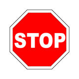 Vector Stop Sign Stock Image