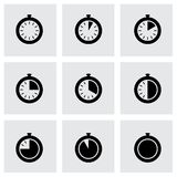 Vector stopwatch icon set Royalty Free Stock Photo
