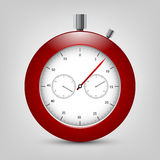 Vector stopwatch with shadow Royalty Free Stock Image