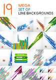 Vector straight line backgrounds design collection. For business backgrounds, technology templates, business cards Stock Photography