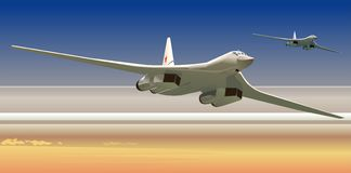 Vector strategic bombers Royalty Free Stock Images