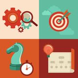 Vector strategy concept in flat trendy style Royalty Free Stock Images