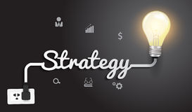 Free Vector Strategy Concept With Creative Light Bulb I Royalty Free Stock Photo - 36779525