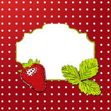 Vector strawberry background. Stock Image