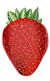 Vector strawberry isolated on white background Royalty Free Stock Images