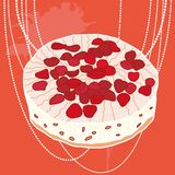 Vector strawberry pie Royalty Free Stock Photography