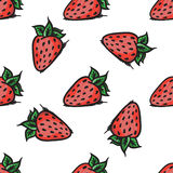 Vector strawberry seamless pattern. Modern texture. Repeating endless abstract hand drawn background.  Stock Photo