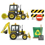 Vector Street Cleaning Icons Royalty Free Stock Photography