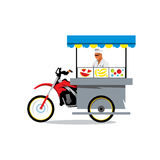Vector Street Food Store Cartoon Illustration. Stock Images