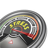 Vector stress conceptual meter indicator Royalty Free Stock Photos