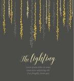 Vector string lights stock illustration