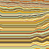 Vector striped background. Abstract color waves. Sound wave oscillation. Funky curled lines. Elegant wavy texture. Stock Photos