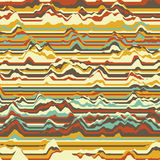 Vector striped background. Abstract color waves. Sound wave oscillation. Funky curled lines. Elegant wavy texture. Surface distortion. Colorful background Stock Photo
