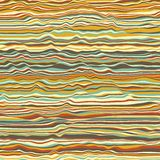 Vector striped background. Abstract color waves. Sound wave oscillation. Funky curled lines. Elegant wavy texture. Surface distortion. Colorful background Royalty Free Stock Photo