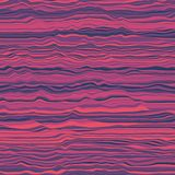 Vector striped background. Abstract color waves. Sound wave oscillation. Funky curled lines. Elegant wavy texture. Surface distortion. Colorful background Royalty Free Stock Photos