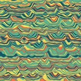 Vector striped background. Abstract color waves. Sound wave oscillation. Funky curled lines. Elegant wavy texture. Surface distortion. Colorful background Royalty Free Stock Images