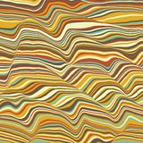 Vector striped background. Abstract color waves. Sound wave oscillation. Funky curled lines. Elegant wavy texture. Surface distortion. Colorful background Stock Photos