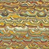 Vector striped background. Abstract color waves. Sound wave oscillation. Funky curled lines. Elegant wavy texture. Surface distortion. Colorful background Stock Image