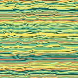 Vector striped background. Abstract color waves. Sound wave oscillation. Funky curled lines. Elegant wavy texture. Surface distortion. Colorful background Stock Images