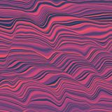 Vector striped background. Abstract color waves. Sound wave oscillation. Funky curled lines. Elegant wavy texture. Surface distortion. Colorful background Stock Photography
