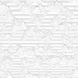 Vector striped background. Abstract line waves. Sound wave oscillation. Funky curled lines. Elegant wavy texture. Surface distortion. Monochrome. Grayscale Royalty Free Stock Photography