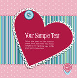 Vector striped  background with hearts and buttons Stock Photography
