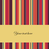 Vector striped background with place for text Royalty Free Stock Images