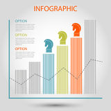 Vector striped bar growth graph Stock Images
