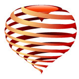 Vector striped heart Royalty Free Stock Images
