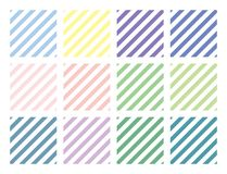Vector Striped patterns set. For print, gift, web, scrap and patchwork stock illustration