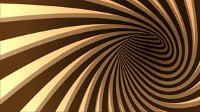 Vector striped spiral abstract tunnel background. 3d vector striped spiral abstract tunnel background. Background for products with chocolate or coffe cream royalty free illustration