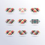 Vector Striped Squares Royalty Free Stock Image