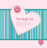 Vector striped striped background with heart Stock Image