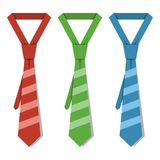 Vector striped ties Royalty Free Stock Photography