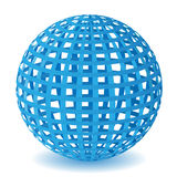 Vector striped wireframe Royalty Free Stock Image