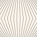 Vector stripes 3d pattern. Geometric seamless texture with thin lines. Stock Photography