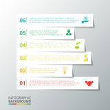 Vector stripes for infographic. Royalty Free Stock Photography