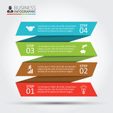 Vector stripes for infographic. Royalty Free Stock Photos