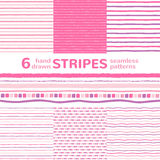 Vector stripes seamless patterns collection Royalty Free Stock Images