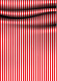 Vector stripped drapery. Soft cloth with stripes. Much space for Royalty Free Stock Images