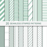 Vector stripped patterns. Set of vector striped patterns. 20 seamless patterns for your design and ideas Stock Photo