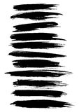 Vector strokes lines, paint dab stripes vector set Royalty Free Stock Photography
