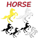 Vector strong Horse isolated on white background Royalty Free Stock Photography