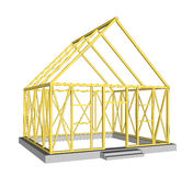 Vector  Structure of house in construction. Royalty Free Stock Photography